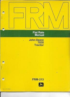 John Deere 7020 Tractor Flat Rate Manual Frm-213