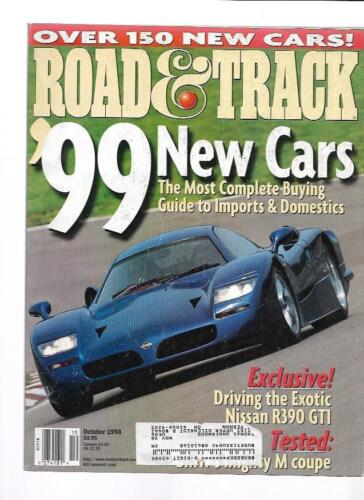 Road & Track Magazine October 1998- Nissan R390 GT1, BMW M Coupe, Lexus GS 400