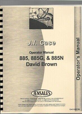 Case David Brown 885 885g 885n Tractor Owners Operators Manual