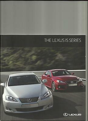 LEXUS IS 250 MANUAL/AUTOMATIC AND IS 220d SALES BROCHURE NOVEMBER 2009 FOR 2010