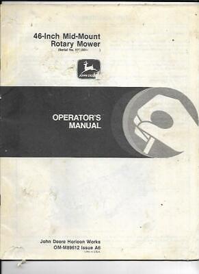 John Deere 46-inch Mid-mount Rotary Mower Operators Manual Om-m89612 Issue A6
