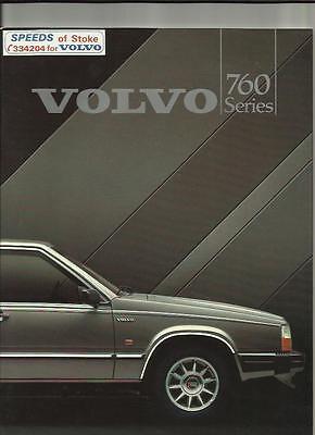 VOLVO 760 GLE, 760 GLE TURBO D & 760 TURBO  SALES BROCHURE  1984