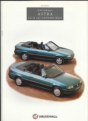 VAUXHALL ASTRA CONVERTIBLE 1.6i AND 2.0i SALES BROCHURE 1994