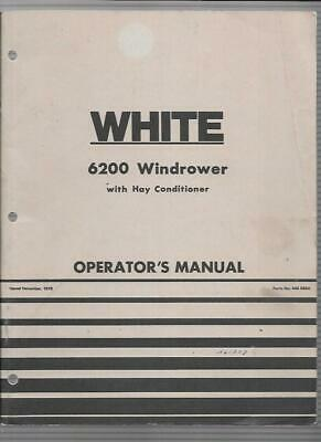 White 6200 Windrower With Hay Conditioner Operators Manual 446566a