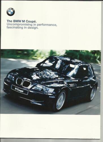 BMW M COUPE SALES BROCHURE  1999