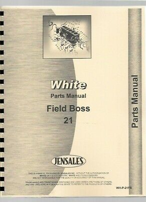 White 21 Field Boss Tractor Parts Manual Catalog
