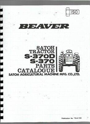 Satoh Mitsubishi Beaver S370 S370d Tractor Parts Manual Catalog