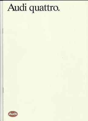 AUDI QUATTRO SALES BROCHURE FEBRUARY 1986