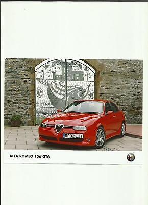 ALFA ROMEO 156 GTA  PRESS PHOTO 'SALES BROCHURE'