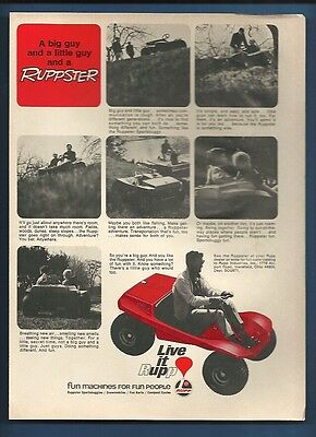 Vintage 1971 Rupp Ruppster Dune Buggy magazine ad  **FREE SHIPPING** for sale  Port Chester