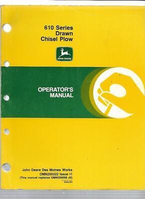 John Deere 610 Series Drawn Chisel Plow Operators Manual Omn200322 Issue I1