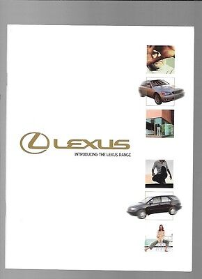 LEXUS LS 430, RX 300, GS 300, GS430 AND IS 200 SALES BROCHURE OCT. 2000 FOR 2001