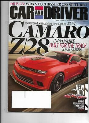 Car And Driver Magazine May 2014- Camaro Z/28, Subaru WRX, Acura NSX-T Car And Driver Wrx