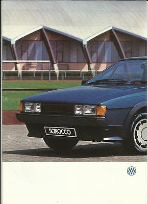 VW VOLKSWAGEN SCIROCCO  GT  GTX  &  GTX 16V  SALES BROCHURE  1986 for 1987 MY