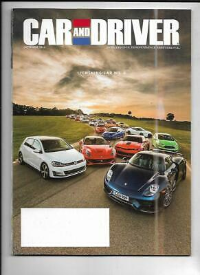 Car And Driver Magazine October 2014- Subaru WRX, Camaro Z/28, Audi RS7 Car And Driver Wrx