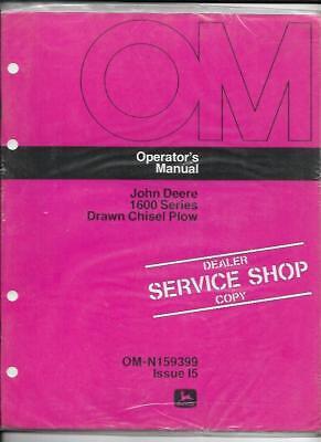 John Deere 1600 Series Drawn Chisel Plow Operators Manual Om-n159399