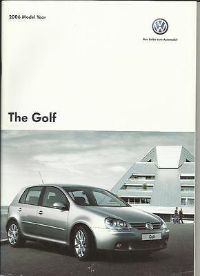 VW VOLKSWAGEN GOLF S, SE, SPORT,GT FSI, GT TDI & GTI SALES BROCHURE 2006
