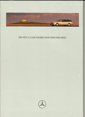 MERCEDES BENZ E CLASS ELEGANCE,CLASSIC & AVANTGARDE ESTATE SALE BROCHURE 1996