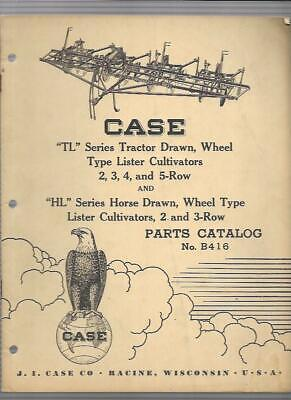 Case Tl Series Tractor Drawn Wheel Type Lister Cultivators Parts Catalog B416