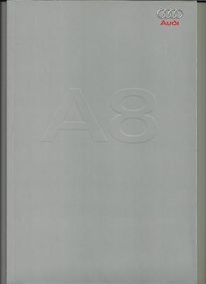 AUDI A8 3.7 & 4.2 QUATTRO PORTFOLIO SALES BROCHURE 2002 2003