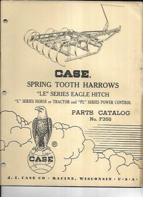 Case Spring Tooth Harrows Le Series Eagle Hitch Parts Catalog No. F358