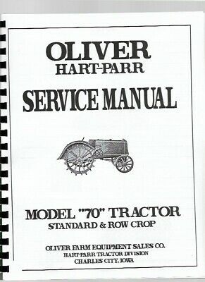 Oliver Hart Parr 70 Tractor Service Repair Manual