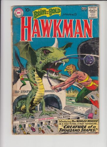 BRAVE AND THE BOLD #34 GD- ORIGIN & 1st APPEARANCE OF SILVER AGE HAWKMAN!!