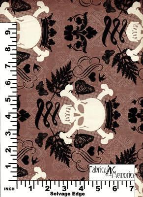 Halloween Skull & Crossbones Fabric Michael Miller Fabrics BY THE HALF YARD F970](Michael Miller Halloween Fabric)