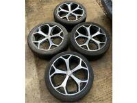 """18"""" 5x108 Ford Focus titanium alloy wheels alloys with tyres zetec St Style"""