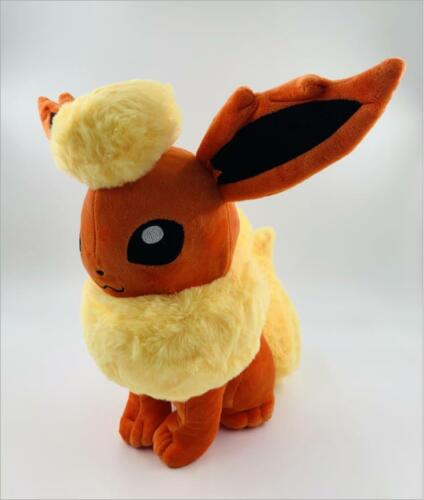 30CM+12%22In+New+Eevee+Sitting+Flareon+Plush+Toy+Stuffed+Doll+Figure+Soft+Touch