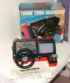 "(TOMY) TURNIN"" TURBO DASHBOARD (BOXED) WITH INSTRUCTIONS."