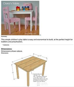 3pc kids table and chairs