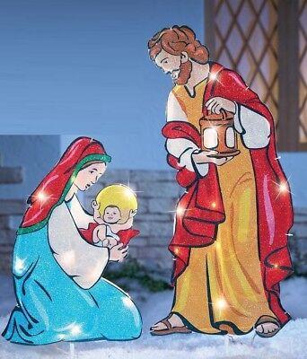 Lighted Outdoor Christmas Nativity Scene Yard Decor