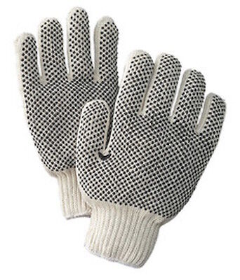 One Dozen Pair Radnor Small White Pvc Dot Grip Work Gloves