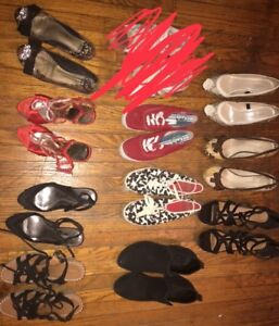 10 Pairs of Slightly Used Shoes