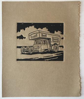 PROPAGANDA WAR WWII USA JOE DOPE CAR JEEP FINE ART PRINT POSTER BB8302B