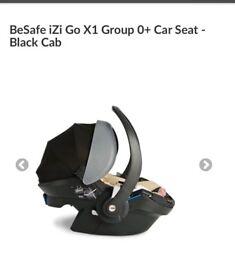 2 x izi be safe car seat and isofix base black