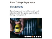 2 Tickets To River Cottage Experience Cookery Course - March 31st - RRP £390