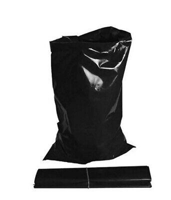 7 x EXTRA HEAVY DUTY BLACK RUBBLE BAGS/SACKS BUILDERS 30kg MAX STRENGTH