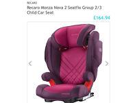 Recaro Monza nova 2 seatfix brand new