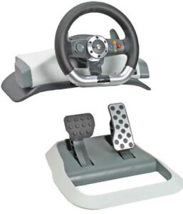 Wireless Volant xbox 360 Driving Wheel with Pedal