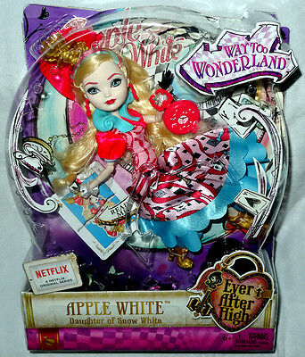 Ever After High Way Too Wonderland Apple White Doll MIB Toy Figure #CJF42