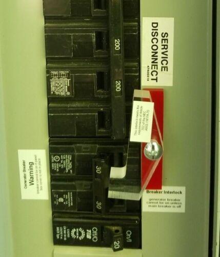 GEN-2 Generator Interlock Kit for Generator breaker/main above one another