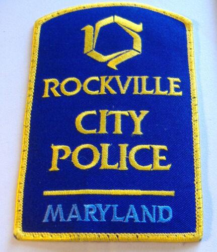 ROCKVILLE CITY POLICE~MARYLAND~FABRIC PATCH