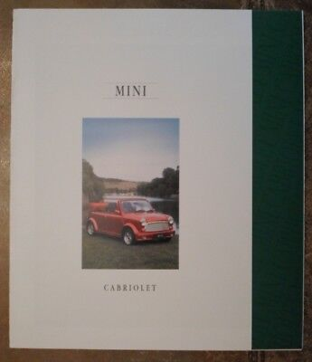 MINI CABRIOLET orig 1992 UK Mkt Sales Brochure - 4404