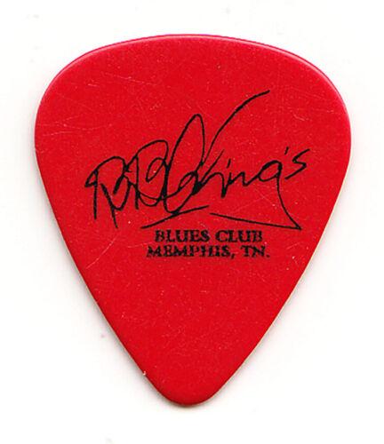 B.B. King Signature Memphis Blues Club Red Guitar Pick