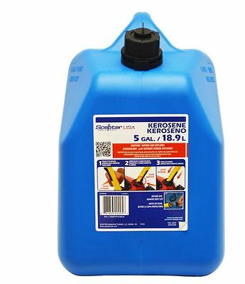 5-gallon Plastic Kerosene Can Fuel Cans Tank Blue Oil Gas Spout Child-resistant
