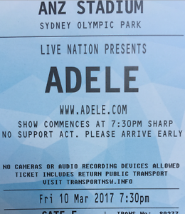 [Discount price!] Adele SYD (A Reserve) 10-Mar -- section A15 or A20 Castle Hill The Hills District Preview
