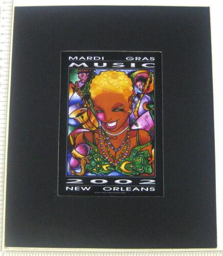Mardi Gras Music Andrea Mistretta New Orleans 2002 Mini Poster Jazz Saxophone
