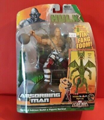 "2007 Hasbro Marvel Legends Fin Fang Foom BAF Series ABSORBING MAN  6"" Figure"